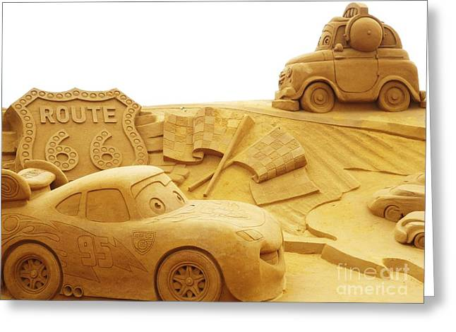 Route 66 Sandsculpture Greeting Card