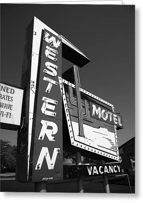 Route 66 - Western Motel 7 Greeting Card by Frank Romeo