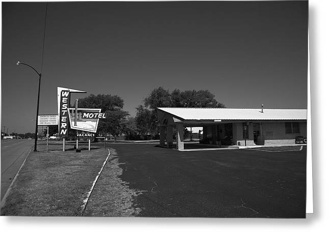 Route 66 - Western Motel 8 Greeting Card by Frank Romeo