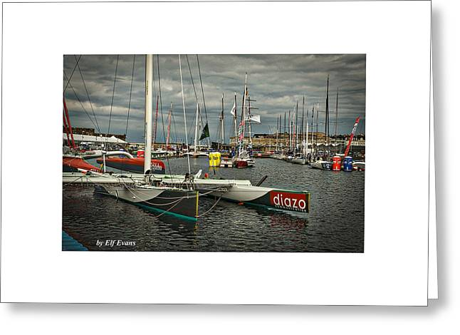 Greeting Card featuring the photograph Route Du Rhum Ready by Elf Evans