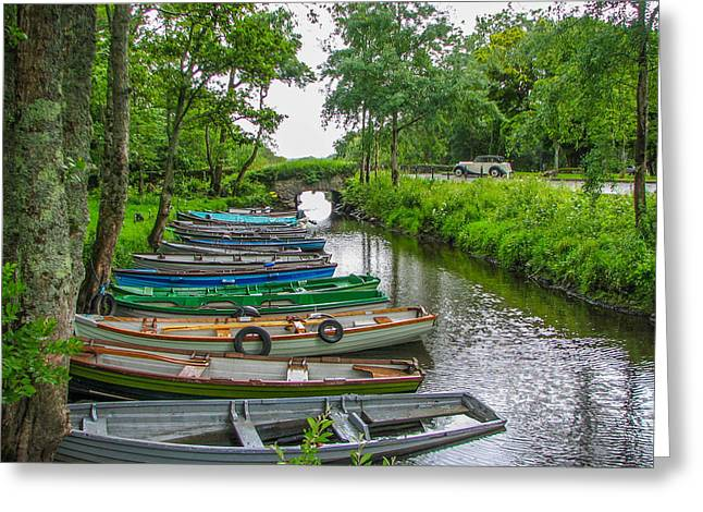 Row Boats Greeting Card by Gestalt Imagery
