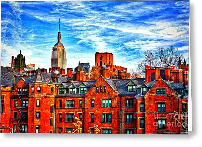 Row Houses On The Highline Greeting Card by Terry Wallace