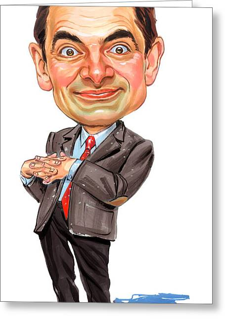 Rowan Atkinson As Mr. Bean Greeting Card by Art