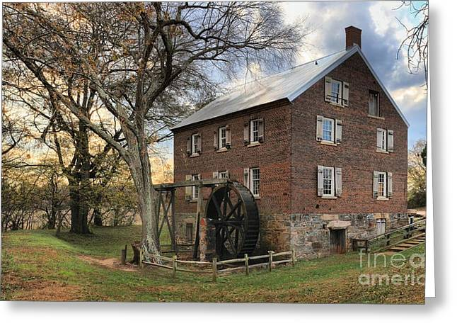 Rowan County Grist Mill Greeting Card by Adam Jewell
