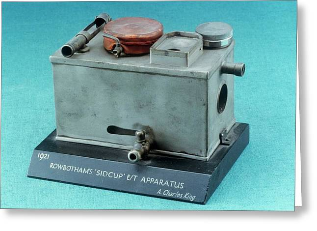 Rowbotham Endotracheal Apparatus Greeting Card by Science Photo Library
