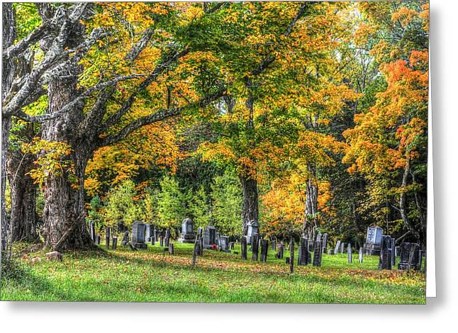 Rowell Cemetery Greeting Card by John Nielsen