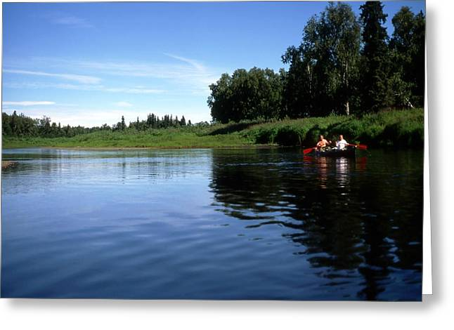 Rowing In The Lake In Alaska Greeting Card by IB Photo