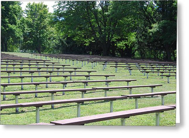 Greeting Card featuring the photograph Rows And Rows Of Seats by Ramona Whiteaker
