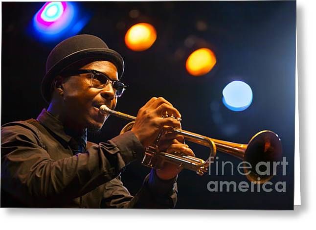Roy Hargrove With Hat Greeting Card