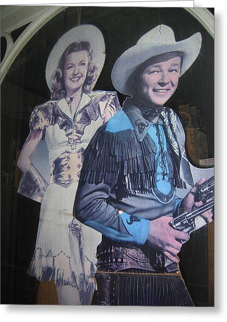 Roy Rogers And Dale Evans #2 Cut-outs Tombstone Arizona 2004 Greeting Card by David Lee Guss