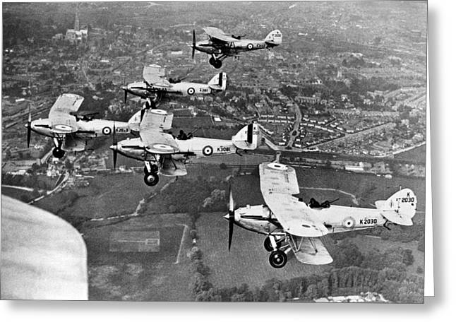 Royal Air Force Formation Greeting Card by Underwood Archives