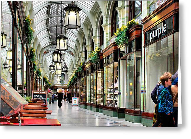 Royal Arcade Greeting Card by Pedro Fernandez