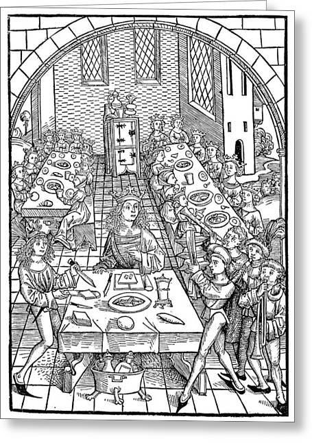Royal Banquet, 1491 Greeting Card by Granger
