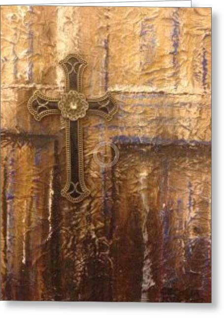 Royal Cross Greeting Card by Cecilia Putter