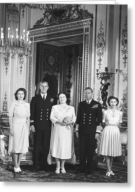 Royal Family Wedding Greeting Card by Underwood Archives