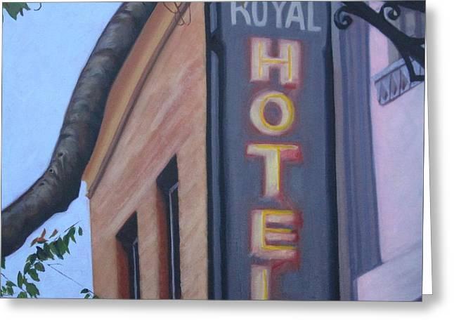 Royal Hotel Greeting Card by Katrina West