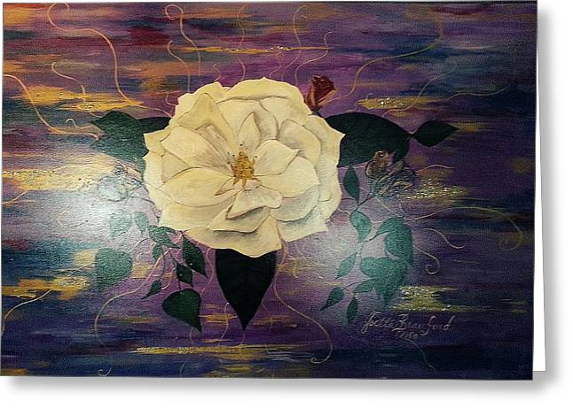 Royal Majestic Magnolia Greeting Card by Joetta Beauford