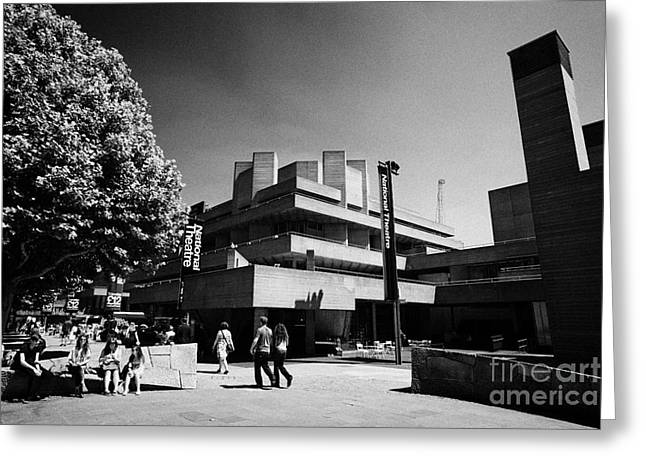 Royal National Theatre South Bank London England Uk Greeting Card