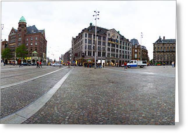 Royal Palace And The Nieuwe Kerk, Dam Greeting Card by Panoramic Images