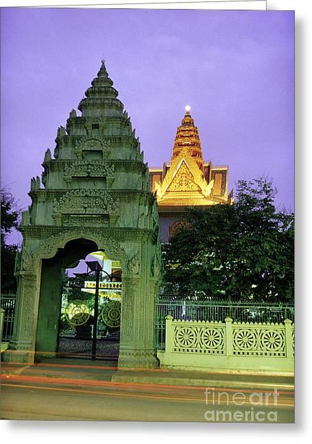 Royal Palace Phnom Penh Cambodia Greeting Card