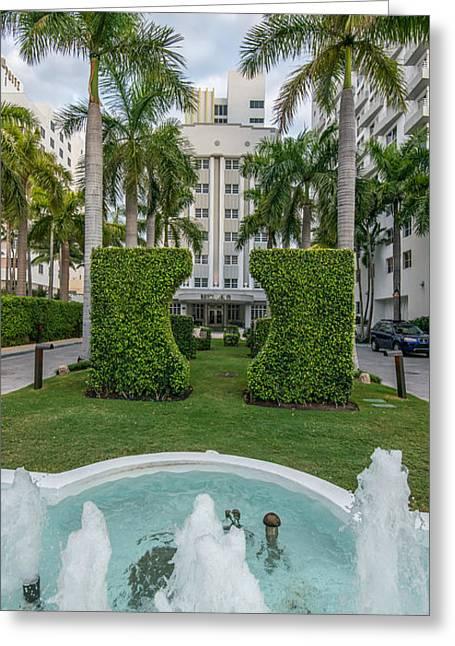 Royal Palm Hotel On South Beach Miami Greeting Card
