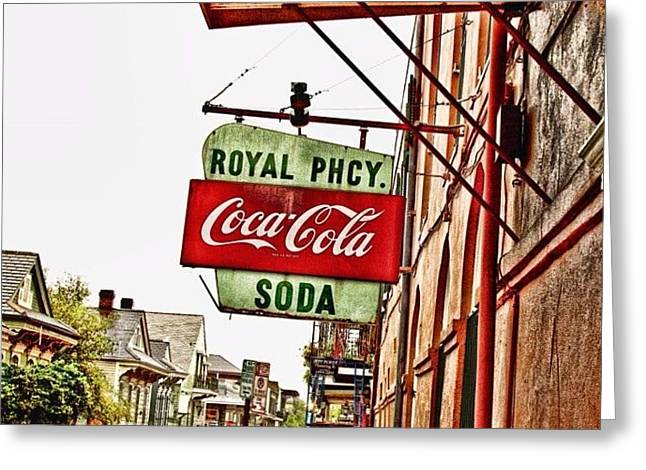 Royal Pharmacy  Greeting Card by Scott Pellegrin