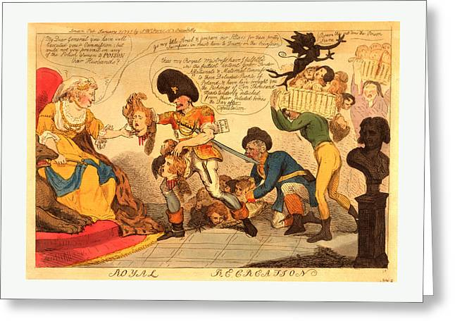 Royal Recreation, Cruikshank, Isaac, 1756-1811 Greeting Card