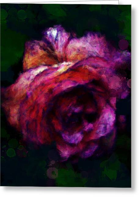 Royal Rose Painted Greeting Card