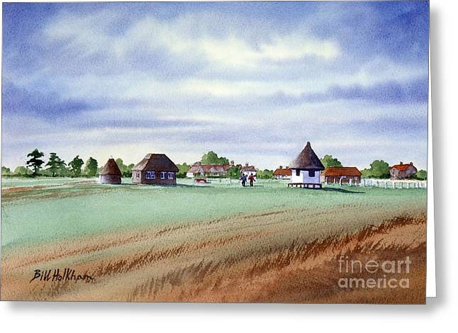 Royal Saint George's Golf Course Greeting Card by Bill Holkham