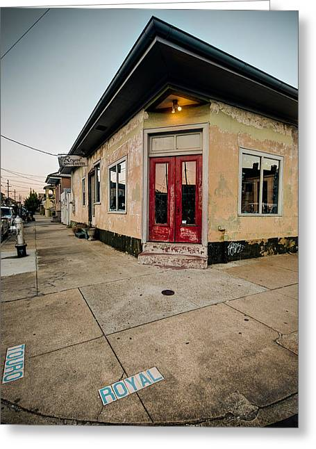 Royal Street Landerette In The Marigny Of New Orleans Greeting Card by Ray Devlin