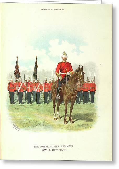 Royal Sussex Regiment Greeting Card