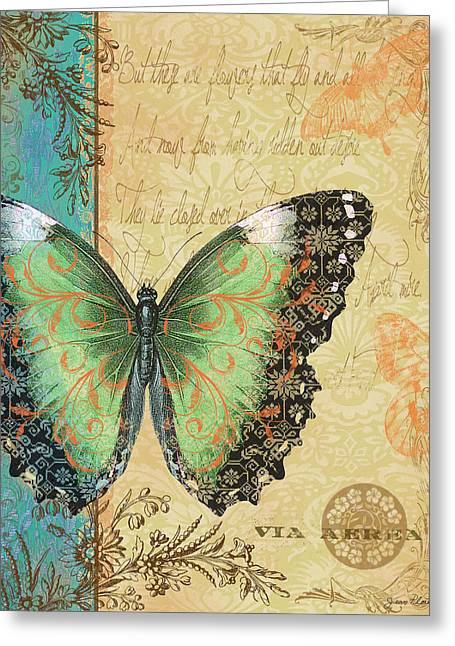 Royal Tapestry Butterfly-c Greeting Card by Jean Plout