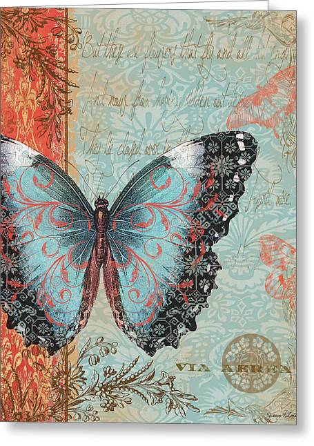 Royal Tapestry Butterfly Greeting Card by Jean PLout
