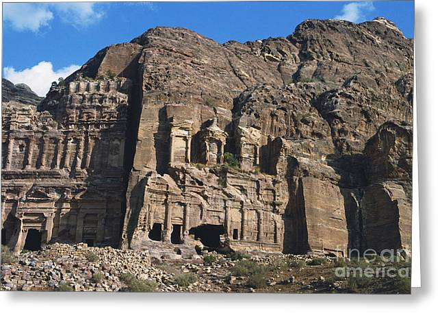 Royal Tombs, Petra, Jordan Greeting Card by Catherine Ursillo