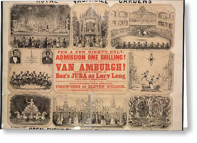 Royal Vauxhall Gardens Greeting Card by British Library