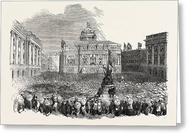 Royal Visit To Liverpool, Queen Victoria At The Town Hall Greeting Card
