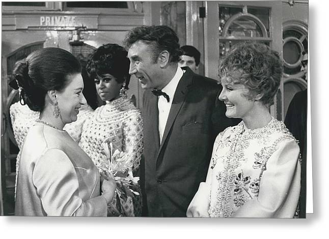 Royals Attend The Royal Variety Performance At The London Greeting Card by Retro Images Archive