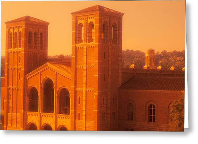 Royce Hall At An University Campus Greeting Card by Panoramic Images