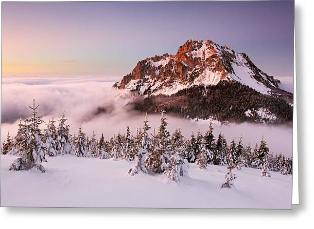 Rozsutec Peak Greeting Card