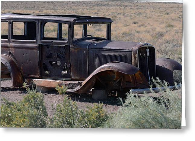 Greeting Card featuring the photograph Rt 66 And Nowhere To Go by Debby Pueschel