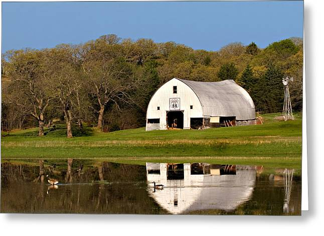 Rt 66 Hay Farm Oklahoma Greeting Card