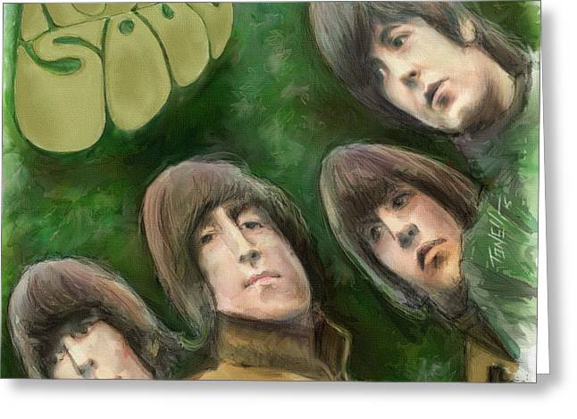 Rubber Soul... Greeting Card by Mark Tonelli