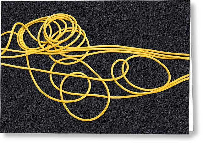 Rubber Spaghetti Greeting Card by Joe Bonita