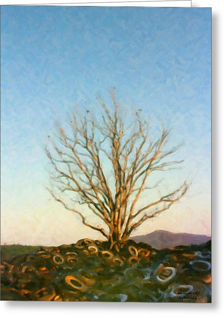 Rubber Tree Greeting Card