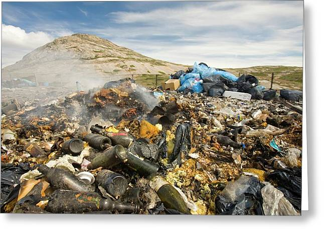 Rubbish Abandoned On A Tip Greeting Card by Ashley Cooper