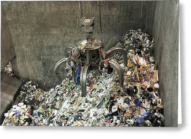 Rubbish At Refuse Facility Greeting Card by Public Health England