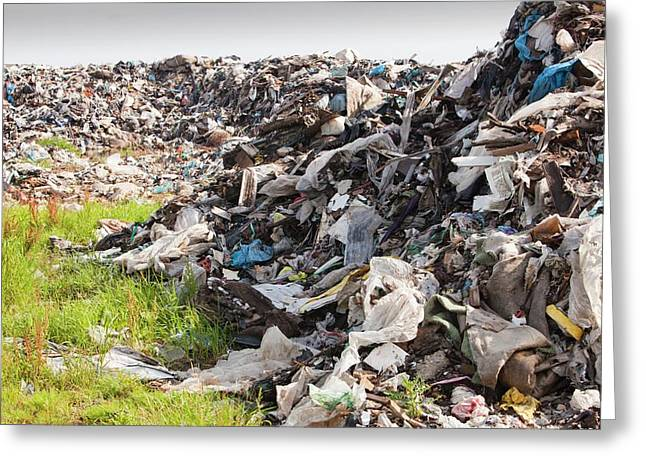 Rubbish Dumped On Wasteland Greeting Card