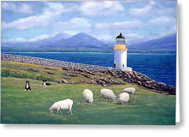 Rubh An Duin Lighthouse Scotland Greeting Card