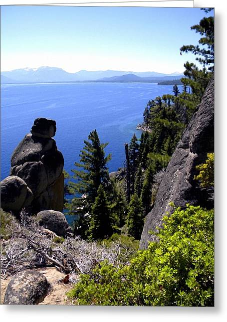 Rubican Trail View Of  Lake Tahoe Greeting Card by Frank Wilson