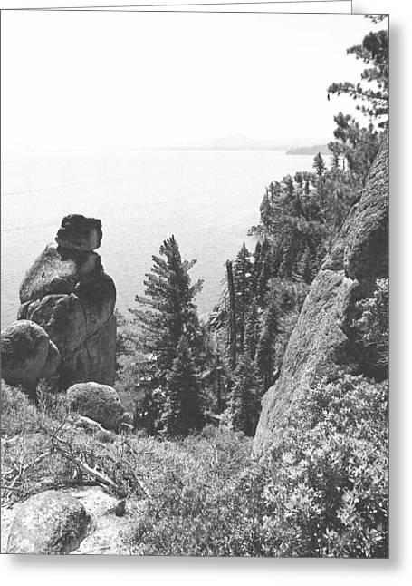 Rubicon Trail View Of Lake Tahoe Greeting Card by Frank Wilson